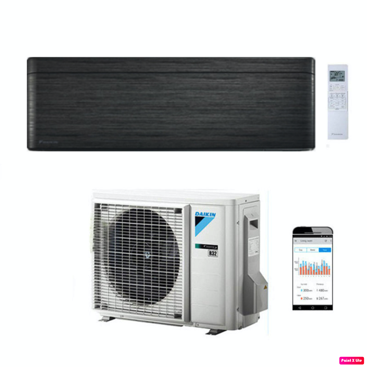 DAIKIN STYLISH BLACKWOOD (FTXA35AT / RXA35A)